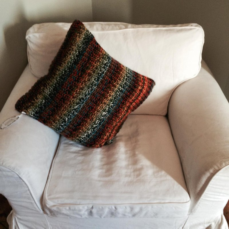 look how a cushion can just add warmth and that all round feeling of comfort
