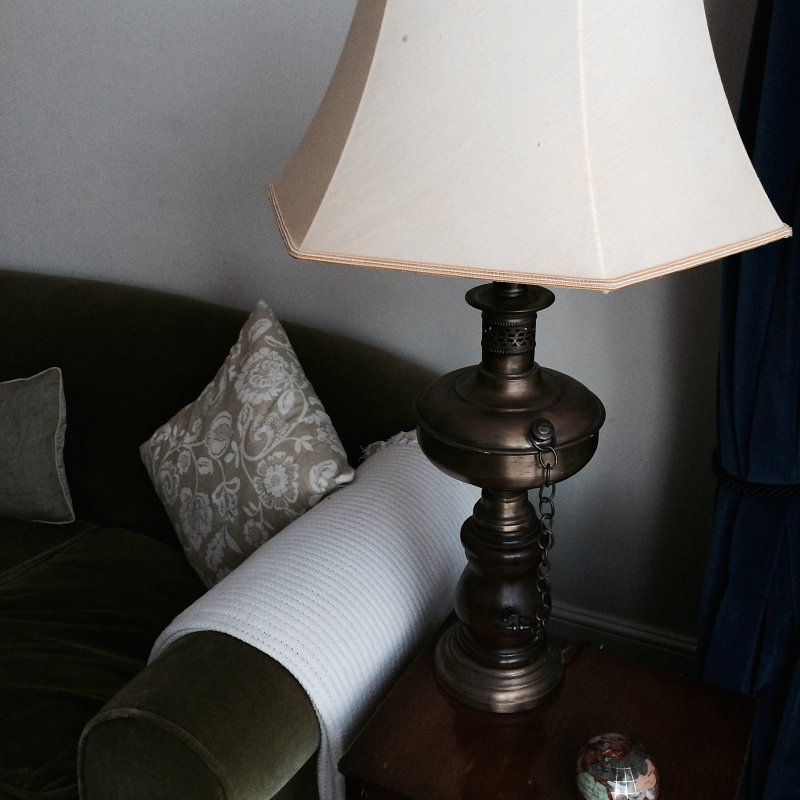 This beautiful lamp was sourced from a local vintage shop and what a bargin!