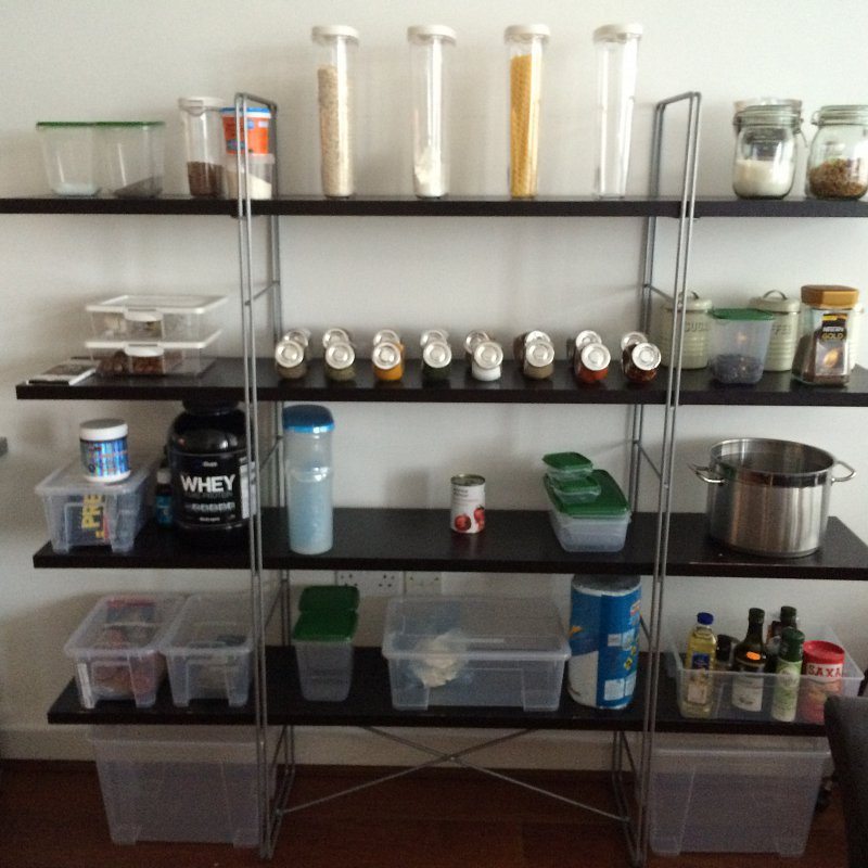 Neatly displayed containers make for an easy life in the kitchen